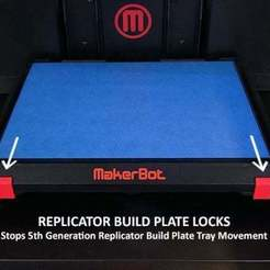 3710cdcb8ba8da0ae920343ed25a0128_display_large.jpg Download free STL file 5th Generation Replicator Build Plate Locks • 3D print model, Muzz64