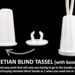 Download free 3D printer templates Venetian Blind Tassel (with End Cap), Muzz64