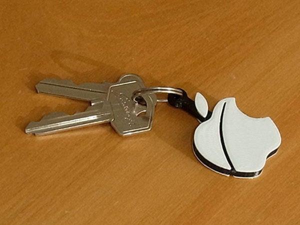 left_display_large.jpg Télécharger fichier STL gratuit Porte-clés pomme.... Le must have'Apple Logo' en forme de porte-clés pour Apple / iPhone / iPhone / iPad Fans • Design pour imprimante 3D, Muzz64