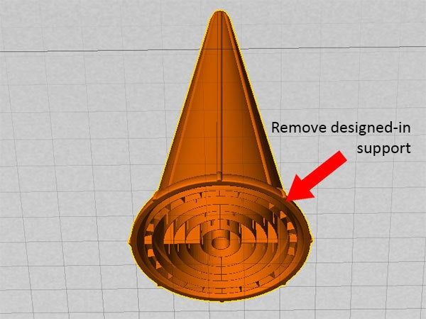 support_display_large.jpg Download free STL file Ice Cream Cone - Just like a regular cone but reusable! • 3D print design, Muzz64