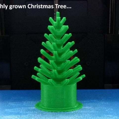 grown_display_large.jpg Download free STL file Mini Christmas Tree with hook on Decorations! • Design to 3D print, Muzz64