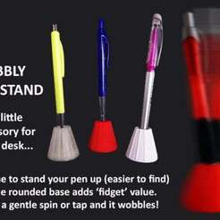 Download free 3D model Wobbly Pen Stand, Muzz64