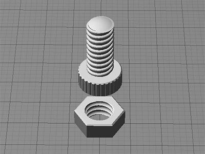 nutnbolt_display_large.jpg Download free STL file Nut and Bolt • 3D printable model, Muzz64