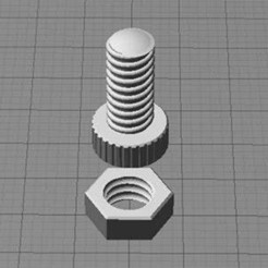 Download free STL file Nut and Bolt, Muzz64