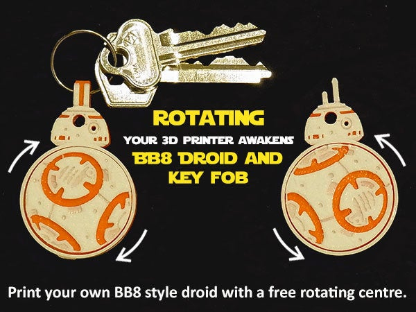 a598043f9a96fb2e5050a1907c1a267a_display_large.jpg Download free STL file Rotating BB8 Droid and BB8 Key Fob • Design to 3D print, Muzz64