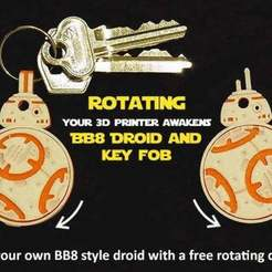 Download free STL file Rotating BB8 Droid and BB8 Key Fob • Design to 3D print, Muzz64