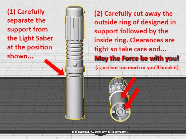 support_desktop_display_large.jpg Download free STL file Light Saber Mini - Every Star Wars fan needs one! • Model to 3D print, Muzz64