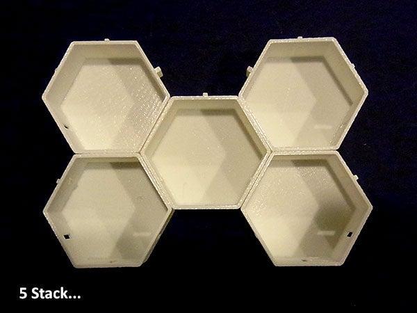 5stack_display_large.jpg Télécharger fichier STL gratuit Empileurs hexagonaux • Objet imprimable en 3D, Muzz64