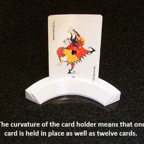 cardholder_3_display_large.jpg Download free STL file Playing Card Holder - Holds your cards for you while you play! • 3D printing template, Muzz64