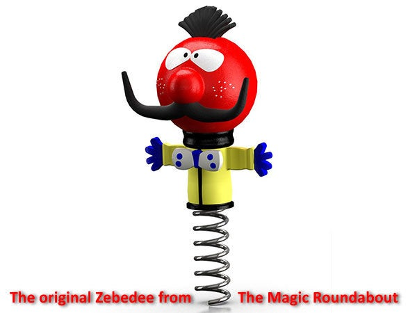 original_display_large.jpg Download free STL file Zebedee -  From The Magic Roundabout (Wobbles on the spring and arms that go up and down) • Object to 3D print, Muzz64