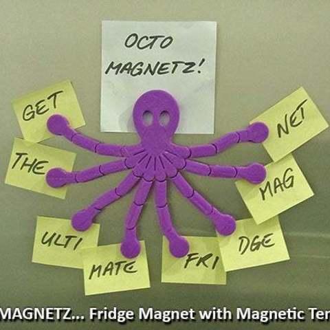 Descargar Modelos 3D para imprimir gratis Octo Magnetz.... lo último en imanes para el refrigerador!, Muzz64