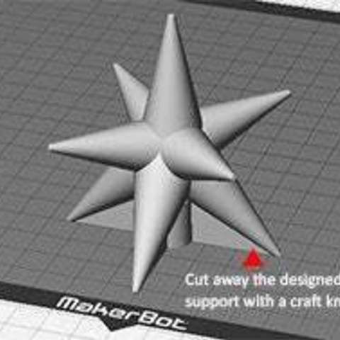 cstar_03_display_large.jpg Download free STL file Christmas Star - For the top of your Christmas Tree! • 3D printer template, Muzz64