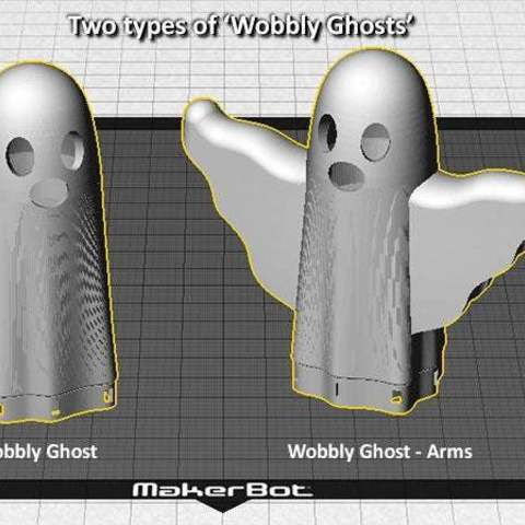 types_display_large.jpg Download free STL file Wobbly Ghosts! • 3D print model, Muzz64