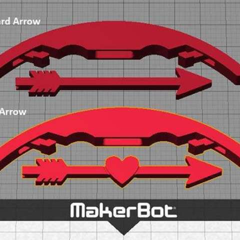 options_display_large.jpg Download free STL file Bow and Arrow - Shoot an arrow / Valentines Day Heart Arrow up to 5 metres! • 3D printer model, Muzz64