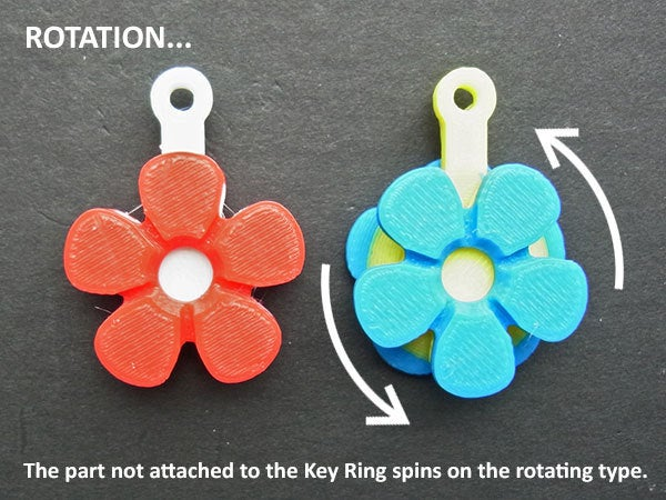 rotate_display_large.jpg Download free STL file Flower Fobs... Flower Key Fobs that Spin! • 3D printing object, Muzz64