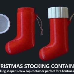 Download free 3D printing designs Christmas Stocking Container, Muzz64
