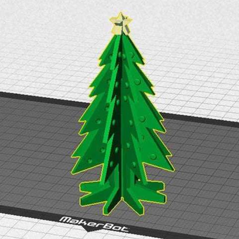 xtree_star_display_large.jpg Download free STL file Christmas Tree - Your own personal mini 3D printed Christmas tree with coloured decorations! • Object to 3D print, Muzz64