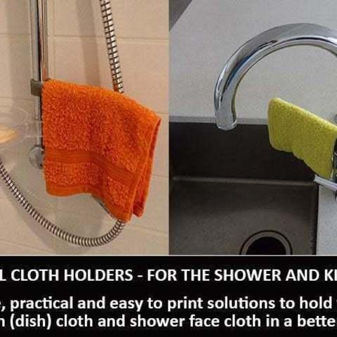 Download free 3D printer designs Swivel Cloth Holders, Muzz64