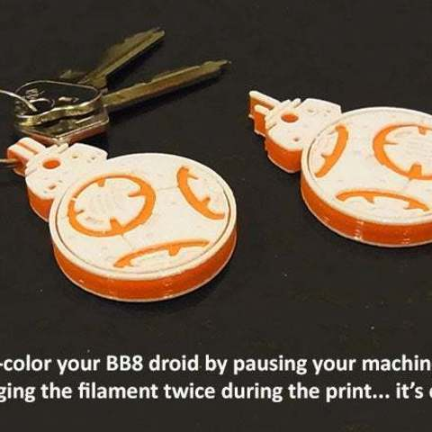 colors_display_large.jpg Download free STL file Rotating BB8 Droid and BB8 Key Fob • Design to 3D print, Muzz64