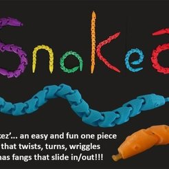 Download free 3D printing files SNAKEZ, Muzz64