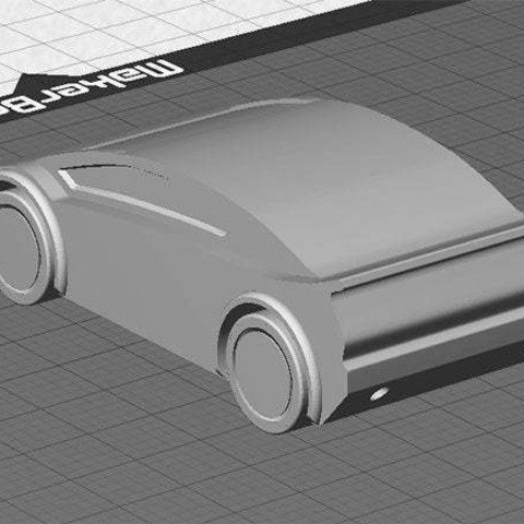 sportscar-2_display_large.jpg Download free STL file Sports Car - One piece print with moving wheels • 3D printable model, Muzz64