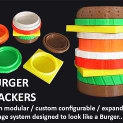 Download free 3D print files Burger Stacker, Muzz64