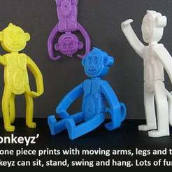 Download free 3D printer designs Monkeyz, Muzz64