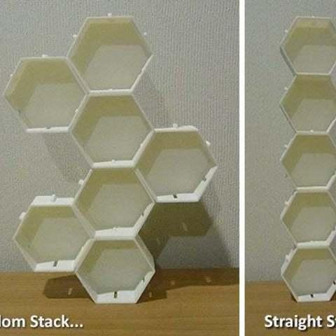 stacks_display_large.jpg Télécharger fichier STL gratuit Empileurs hexagonaux • Objet imprimable en 3D, Muzz64