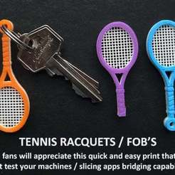 Download free 3D printing files Tennis Racquet Key FOB, Muzz64