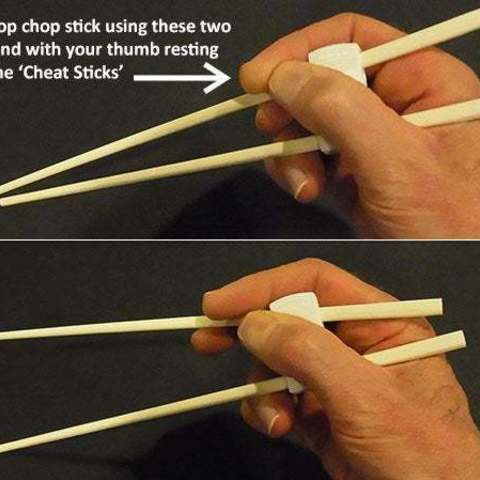 use_display_large.jpg Download free STL file 'Cheat Sticks' - The easy way to keep your Chop Sticks under control! • 3D printer template, Muzz64