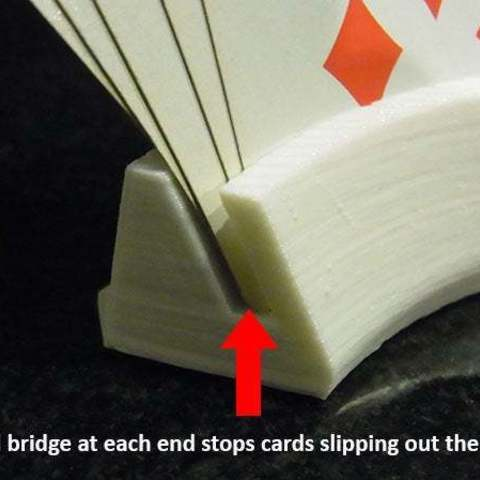 bridge_display_large.jpg Download free STL file Playing Card Holder - Holds your cards for you while you play! • 3D printing template, Muzz64