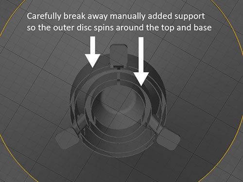 UFO-6_display_large.jpg Download free STL file UFO with Spinning Outer Disk • 3D printer design, Muzz64