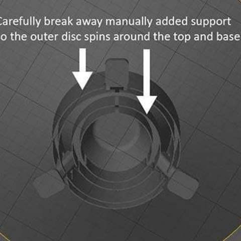 UFO-6_display_large.jpg Télécharger fichier STL gratuit OVNI avec disque extérieur tournant • Design pour imprimante 3D, Muzz64