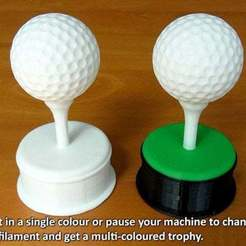 Download free 3D printer templates Golf Ball Trophy, Muzz64