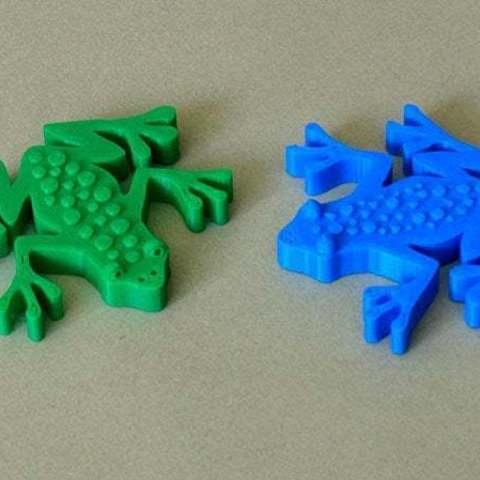 Télécharger plan imprimante 3D gatuit Grenouille - Impression facile d'un dessin animé style Grenouille, Muzz64