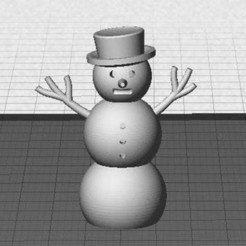 Download free 3D printer templates Snowman, Muzz64