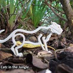Download free STL file Wild Catz... with Jaws that Bite and Growl! • 3D printing object, Muzz64