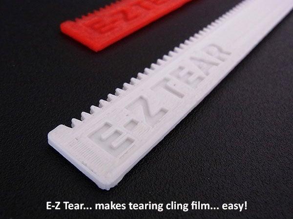 515651e2a4b560ff74fd3b6aa2465b37_display_large.jpg Download free STL file E-Z Tear - Cling Film Tearing Tool • 3D print template, Muzz64