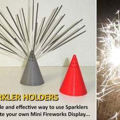a2319e9c343b46bb84b9bbe8ce72e356_display_large.jpg Download free STL file Sparkler Holder • Template to 3D print, Muzz64