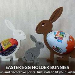 Download free STL files Easter Egg Holder Bunnies, Muzz64