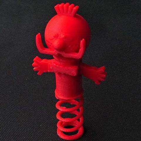 red_display_large.jpg Download free STL file Zebedee -  From The Magic Roundabout (Wobbles on the spring and arms that go up and down) • Object to 3D print, Muzz64