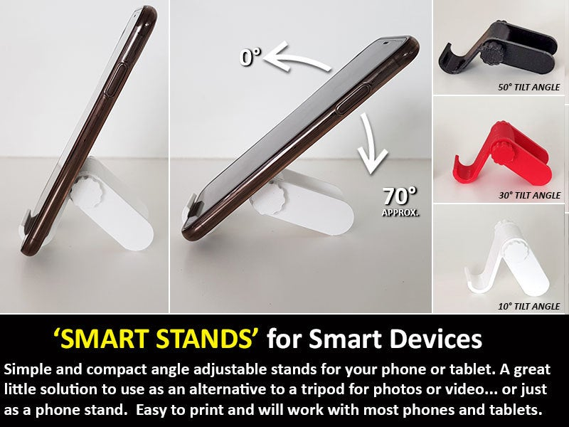51494b66b20eaec11fe501f5bdf797f4_display_large.jpg Download free STL file Smart Stand - A smart little stand for Smart Devices (Phones and Tablets) • 3D printable model, Muzz64