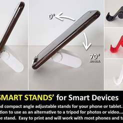 Download free STL file Smart Stand - A smart little stand for Smart Devices (Phones and Tablets), Muzz64
