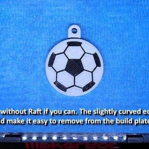 buildplate_display_large.jpg Download free STL file Soccer Ball / Football Key Fob • 3D printable design, Muzz64