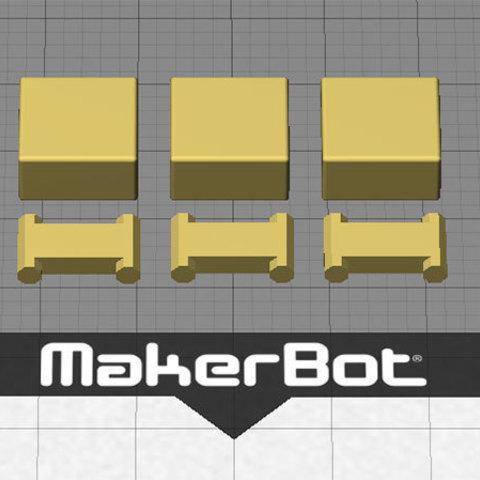 makerware_display_large.jpg Télécharger fichier STL gratuit Bracelet personnalisable - Choisissez vos propres couleurs, imprimez-les et portez-les ensemble ! • Objet imprimable en 3D, Muzz64
