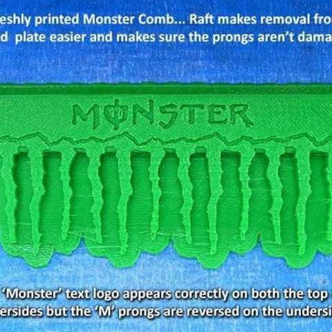 3c532daaa05de3314d4025fc659f21b0_display_large.jpg Télécharger fichier STL gratuit Peigne'Monstre • Design à imprimer en 3D, Muzz64