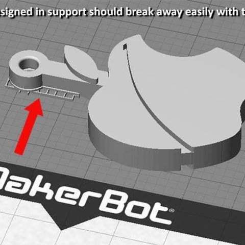 support_display_large.jpg Télécharger fichier STL gratuit Porte-clés pomme.... Le must have'Apple Logo' en forme de porte-clés pour Apple / iPhone / iPhone / iPad Fans • Design pour imprimante 3D, Muzz64