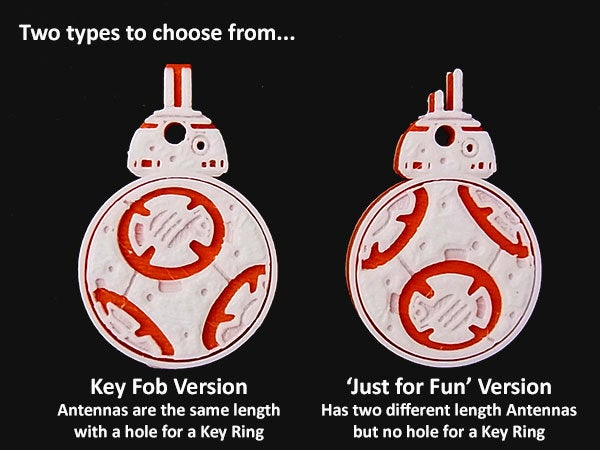 types_display_large.jpg Download free STL file Rotating BB8 Droid and BB8 Key Fob • Design to 3D print, Muzz64