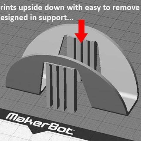 support_display_large.jpg Download free STL file Taco Holder - Rolls over for easy filling / Flat base holds Taco upright when served • Model to 3D print, Muzz64