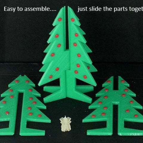 xtree_3_display_large.jpg Download free STL file Christmas Tree - Your own personal mini 3D printed Christmas tree with coloured decorations! • Object to 3D print, Muzz64